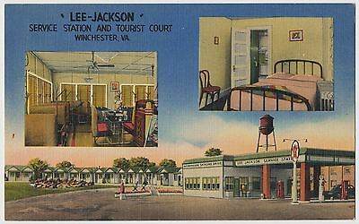 Lee Jackson Texaco Service Station and Tourist Court, Winchester, Virginia 1947