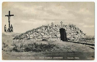 The Tomb and Cross, Holy Family Cemetery, Route 66, Canute, Oklahoma
