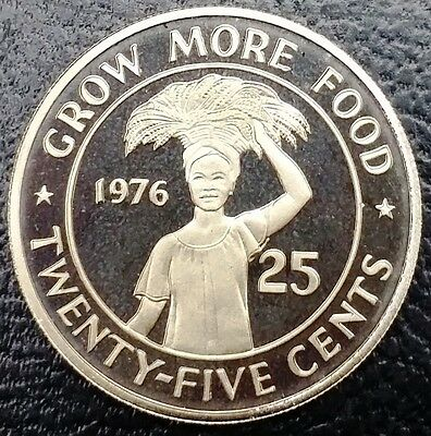 **ONLY 2131 MINTED** 1976 Liberia 25 Cents PROOF Coin KM# 30 - FREE COMBINED S/H