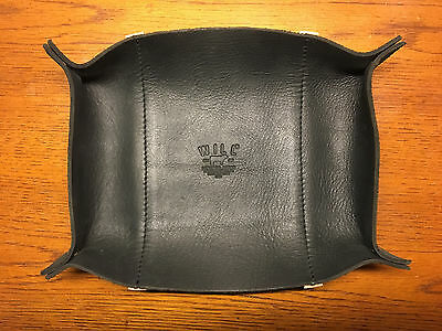 WILL LEATHER GOODS Black Leather Valet Tray for Keys, Coins, Jewelry ~ Eugene OR