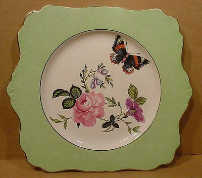 Vintage Royal Winton Grimwades Butterfly & Flowers Plate