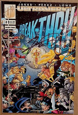 Ultraverse Break-Thru #1 Signed by George Perez Malibu 1993