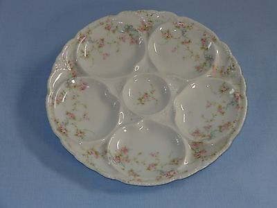 Theodore Haviland Limoges Schleiger Oyster Plate Roses & Bows (B)