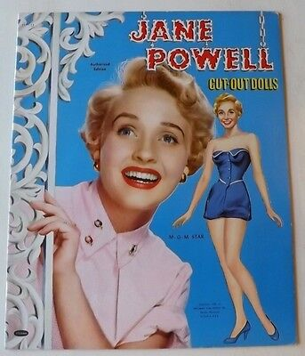 VINTAGE ORIGINAL 1953 JANE POWELL PAPER DOLLS UNCUT WHITMAN MGM pin-up 7 brides