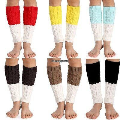 4pairs Ladies Soft Cable Knit Over knee Long Boot Thigh-High Warm Socks US EH7E