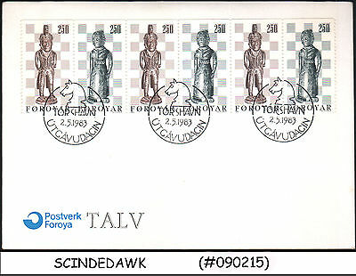 Faroe Isalnds - 1983 Chess Pieces By Pol I Bud From Nolso - 6V - Fdc