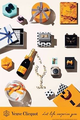 "Veuve Clicquot  ""Let Life Surprise You"" Gifting Poster 24 By 36. New"