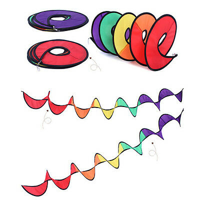 Foldable Rainbow Spiral Windmill Wind Spinner Camping Tent Home Garden Decor WF