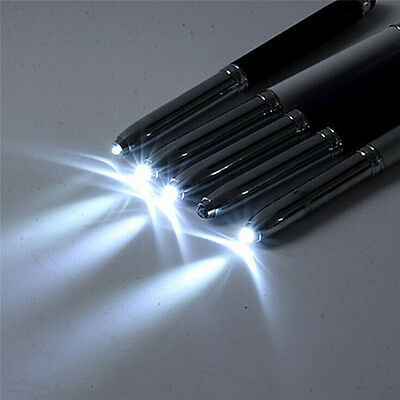 3 in 1 Touch Screen Stylus Ballpoint Pen With LED Flash Light For iPad Iphone WF