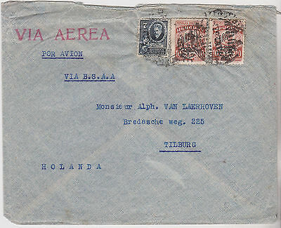 c1933 ATTRACTIVE URUGUAY STAMPS ON MONTEVIDEO COVER SENT TO TILBURG HOLLAND
