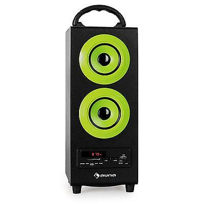 Altavoz Portatil Hifi Bluetooth Usb Sd Radio Fm Subwoofer Aux Cd Mp3 Pc Verde
