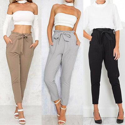 Women Pencil Stretch Casual Skinny Jeans Pants High Waist Jeans Trousers