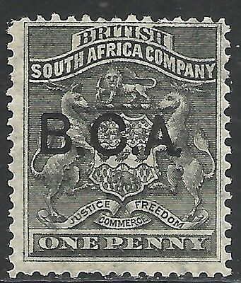 BRITISH CENTRAL AFRICA SCOTT 1 MNG FINE - 1891 1p BLACK COAT OF ARMS ISSUE