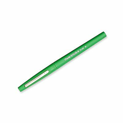 Paper Mate Flair Porous Point Pen, 0.7mm, Medium Point, Green Ink, Pack of 12