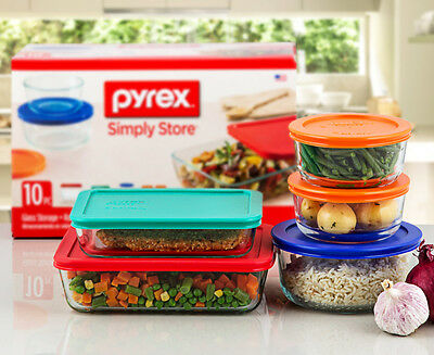 Pyrex Glass Food Storage Set 10-Pack