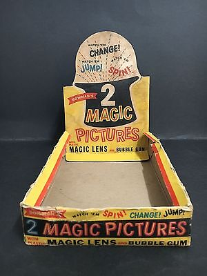 TRADING CARD BOX MAGIC PICTURES FROM 1960's BY BOWMANS