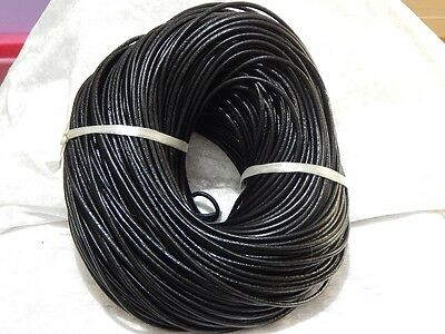 3mm Leather Thonging Black