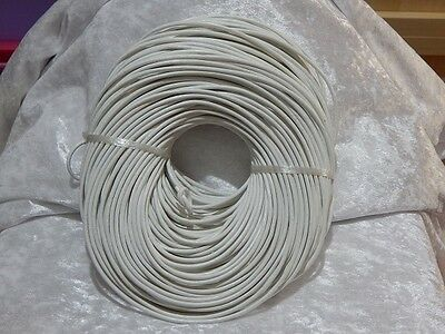 3mm Leather Thonging White