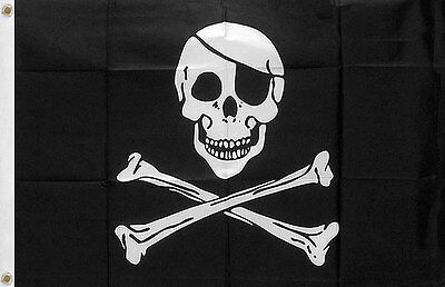 Pirate Skull And Crossbones Flag Jolly Roger Free Shipping