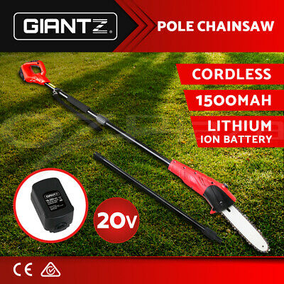 New Giantz 20V Lithium Pole Chainsaw Electric Cordless Garden Tool Pruner Saw