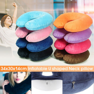 U-Shape Air Pillow Neck Headrest Soft Cushion Car Sleep Travel Plane Nursing