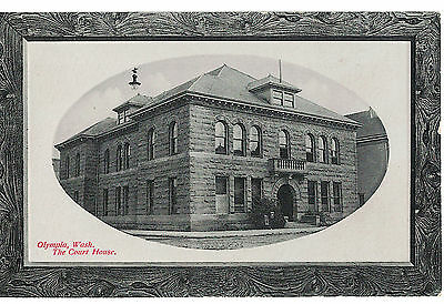 U.s.a. Embossed  Postcard Vancouver Washington : Olympia Wash : The Court House