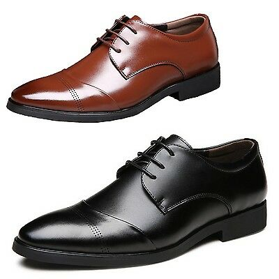 kala Formal Mens Oxford Office Lace up Pointed toe Stylish Dress Shoes Size 5-13