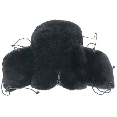 Vast Superb Sheepskin Scrap Western Saddle Seat Saver Fleece Saddle Cover 39020