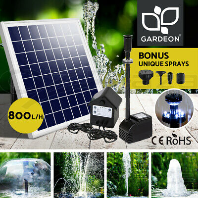 50W Solar Powered Fountain Battery Outdoor Fountains Submersible Water Pump Pond