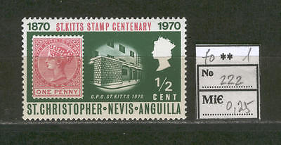JAM E51 St Cristopher Nevis Anguilla 1970 MNH Stamp on Stamp