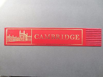 BOOKMARK LEATHER Cambridge University Kings College Chapel RED