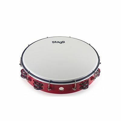 Stagg 12″ Tuneable plastic tambourine w/ 2 rows of jingles