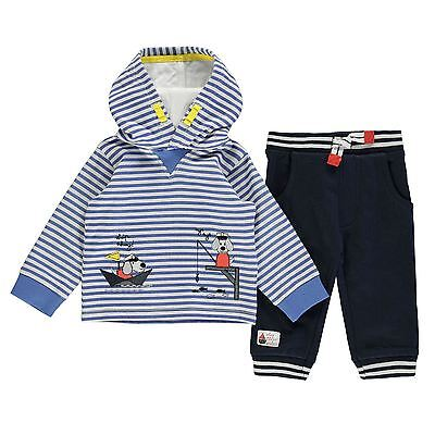 Crafted Kids Two Piece Jogging Set Baby Boys Striped Jersey Long Sleeve Cotton