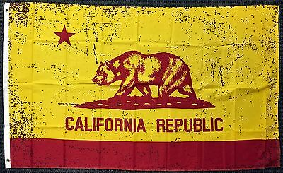3x5 Red and Gold California State Flag Republic CA Outdoor Garden Banner USA New