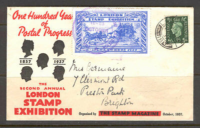 JAP K09 Great Britain 1937 Exhibition Cover Addressed