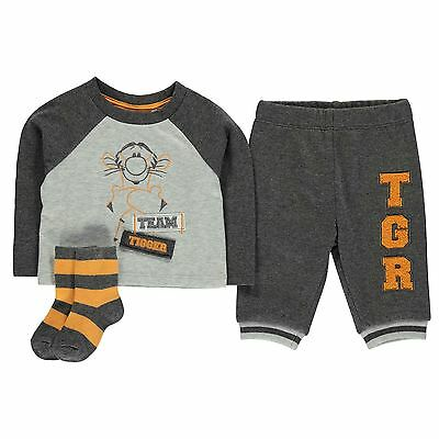Character Kids 3 Piece Jogger Set Baby Boys Striped Crew Neck Long Sleeve