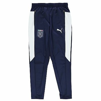 Puma Kids FIGC Football Stadium Pants Trousers Bottoms Junior Boys Mesh dryCELL