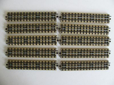 Vintage 1930s Marklin HO OO Scale Straight M Track Lot * 10 Pieces EX