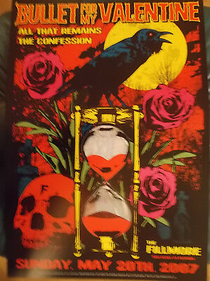 BULLET FOR MY VALENTINE Fillmore Poster ALL THAT REMAINS Confession F876 R Davis
