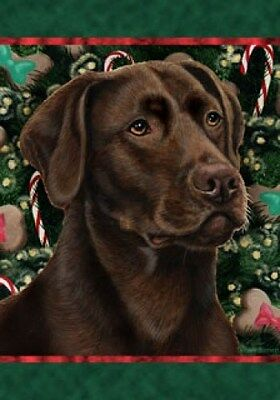 Large Indoor/Outdoor Holiday Flag - Chocolate Labrador Retriever 14028
