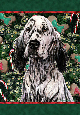 Large Indoor/Outdoor Holiday Flag - Blue Belton English Setter 14469