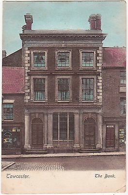 Northamptonshire postcard TOWCESTER, THE BANK 1906 - Wrench Series