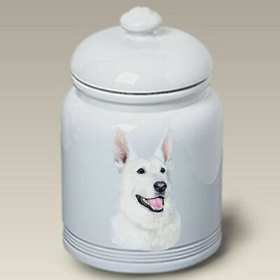 Ceramic Treat Cookie Jar - White German Shepherd (LP) 45195