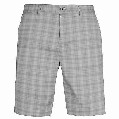 Slazenger Mens Check Golf Shorts Pants Trousers Bottoms Lightweight Zip Pattern