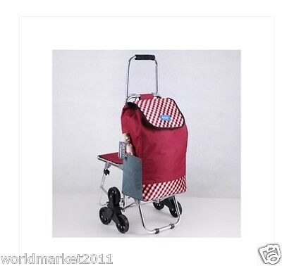New Dot Pattern Chair Six-Tire Convenient Collapsible Shopping Luggage Trolleys
