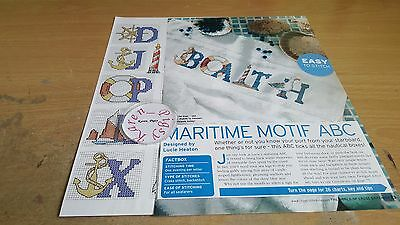 Cross Stitch Chart Maritime Alphabet Charts Sea Side  Letters
