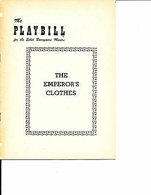 """Opening Night Playbill """"The Emperor's Clothes"""" 1953 NYC RARE 16 Performances"""