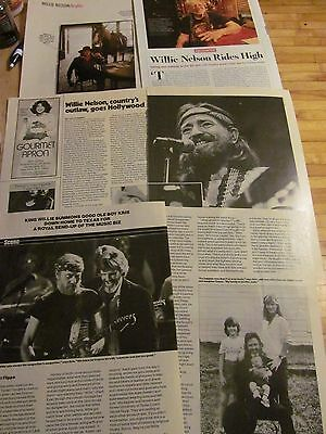 Willie Nelson, Lot of FOUR Full and Two Page Clippings