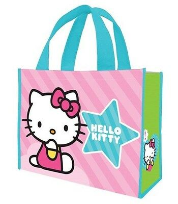 HELLO KITTY - Large Size Recycled Shopping Bag Tote Gift Bag