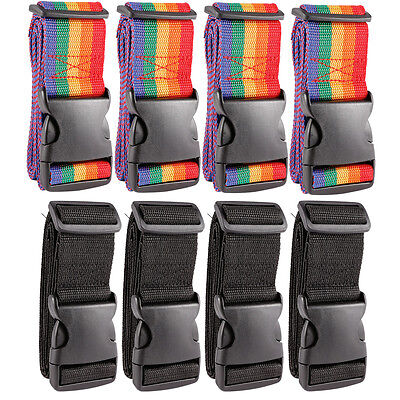 4x Quick Release Luggage Straps 50mm Webbing Suitcase Strap Length 1.9m